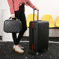 2018新款拉杆箱万向轮糖果色学生行李箱20寸密码登机箱24寸旅行箱 (+寸)子母箱