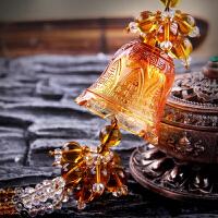 【3色可选】琉璃汽车挂件 车用香水水晶珠幸福铃铛摆件汽车香水挂件挂饰