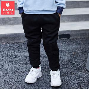 【1件3折价:71.7】纤丝鸟(TINSINO)儿童棉裤男女童加绒保暖卫裤中大童长裤
