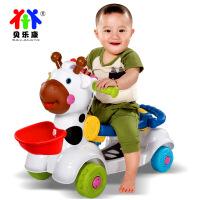 贝乐康小鹿学步车三合一多功能手推车婴幼儿调速儿童学走路玩具
