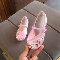 老北京儿童布鞋女童绣花鞋民族风宝宝公主汉服鞋学生古装表演出鞋