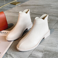 欧洲站短靴女2019秋季新款百搭英伦风切尔西靴韩版时尚帅气马丁靴