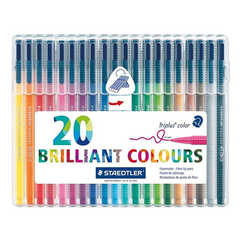 STAEDTLER 施德楼 334 SB 4色 /10色 /20 色 纤维笔|中性笔 套装 彩色签字笔