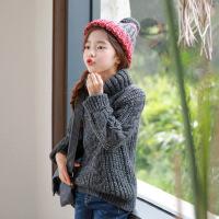 4韩版童装中性高领毛衣童套头毛衣休闲时尚中大童装