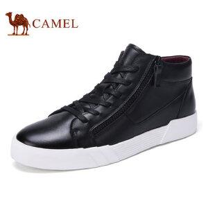 camel 骆驼男鞋秋冬时尚男士潮流舒适休闲高帮滑板鞋