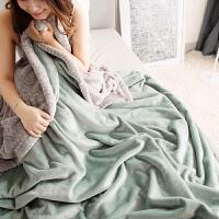 双层冬天加绒加厚毛毯保暖冬季双人珊瑚绒小被子盖毯双面毯子床单