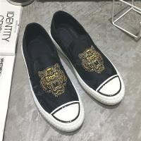 夏季韩版潮流男鞋子休闲老北京布鞋男士帆布鞋板鞋一脚蹬懒人潮鞋