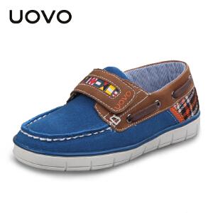 UOVO男童鞋新款春秋季儿童休闲鞋搭扣中童男童运动鞋 哥伦布