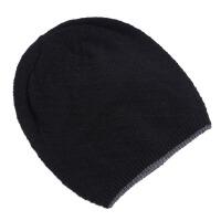 男士冬帽护耳厚毛线帽双层保暖针织帽冬天包头帽子