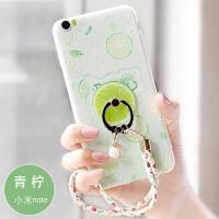 小米note3手机壳女款清新小米note保护套浮雕硅胶防摔水果软壳潮2