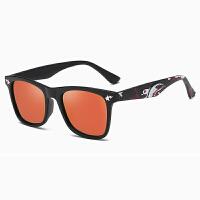 Yinbeler儿童太阳眼镜卡通鲨鱼儿童偏光眼镜 透明框绿镜片加固铰链户外太阳偏光眼镜
