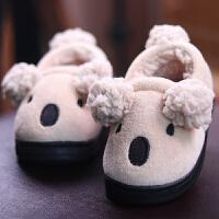 宝宝棉拖鞋男女童1-3岁冬季防滑婴幼儿家包跟秋季儿童棉鞋