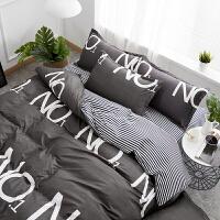 北欧风床上用品四件套棉纯棉1.8米被套学生宿舍1.5m床单三件套4