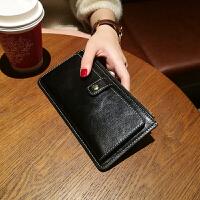 卡包女式多卡位卡片包超薄简约钱包女长款薄拉链搭扣韩版手拿