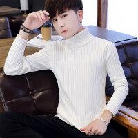 秋冬季男士韩版高领毛衣加厚保暖针织衫潮流男装线衣纯色打底衫男