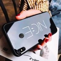 小米mix3手机壳玻璃镜面男款个性超薄硅胶套硬壳潮新外网红黑色nice创意全包边防摔情侣复古男士文字 小米mix3 -