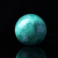天然夜明珠夜光球摆件 天然水晶球摆件招财助运萤石球
