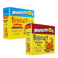 (100减20)Biscuit More Phonics Fun 24本盒装 小饼干狗自然拼读 I can read