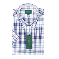 Youngor/雅戈尔男装商务休闲夏季新款短袖衬衫SXX13021GKY
