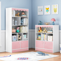 【一件3折】书架置物架简易学生桌面上绘本收纳省空间家用落地客厅儿童书柜