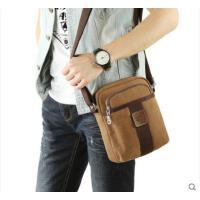 时尚拼接精致耐用便携运动小背包单肩包男士斜挎包帆布包