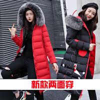 新款加厚棉衣中长款羽绒棉服外套女韩版学生两面穿