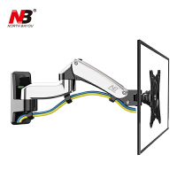 NB F150 (17-27英寸) 液晶电脑显示器支架桌面多功能旋转壁挂显示器支架底座自由升降伸缩架 小巧灵活 双臂上下自由升降 左右旋转前后拉伸 360°横竖屏切换