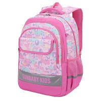 学生书包女童1-3-6年级一儿童双肩背包减负轻便可爱