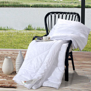 [当当自营]富安娜家纺 被子 纤维被 四季被/暖气房被 空调被 婉悦四季被白色 1.2m(152*210cm)