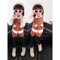 女童套装秋装儿童小孩女宝宝洋气时髦两件套