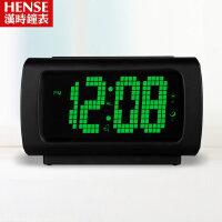 汉时闹钟创意静音夜光多功能语音报时闹钟HA50 此款闹钟闹铃声约为75-85分贝,测试仪器、测试环境均会 导致分贝值有