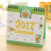 2017年可爱 凹凸版卡通台历 创意桌面小日历年历 农历计划本