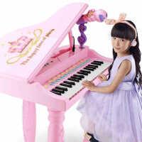 儿童电子琴1-3-6岁女孩初学者入门钢琴宝宝多功能可弹奏音乐玩具男童女童生日新年圣诞节六一儿童节礼物