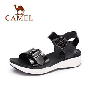 camel骆驼女凉鞋 夏季新款时尚耐磨凉鞋 欧美街头厚底凉鞋