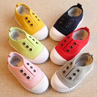 春秋儿童鞋帆布鞋男童女童宝宝单鞋小童鞋子