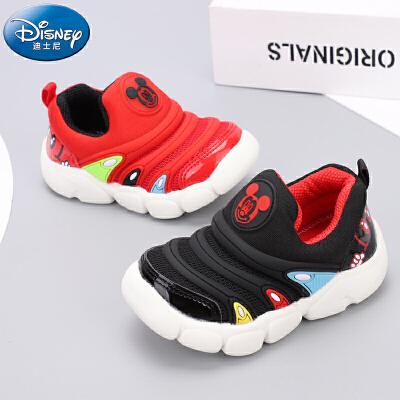 迪士尼2019新款儿童学步鞋宝宝软底室内外毛毛虫春款单鞋