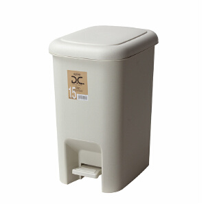 Lustroware 原装进口摇盖垃圾桶21.4L 白色L-2006/MW