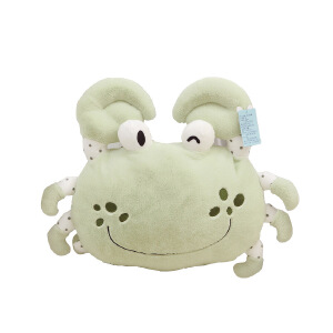 维莱 螃蟹飞蟹毛绒玩具公仔娃娃抱枕靠垫创意大闸蟹男女朋友礼物 绿色大闸蟹 50cm