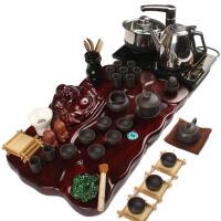尚帝 整套紫砂陶瓷茶具套装 中荷叶弥勒茶盘电磁炉套装 功夫茶具套装XM627DYPG1