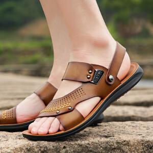 宜驰 EGCHI 凉鞋男士夏季透气软底套脚沙滩男鞋15000