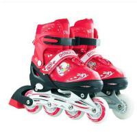 溜冰鞋儿童直排轮旱冰鞋全套小孩滑冰鞋可调轮儿童时尚滑冰鞋支持礼品卡支付