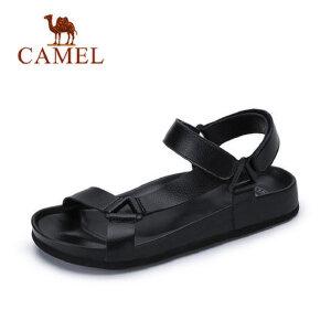 came骆驼男鞋  夏季新 品日常休闲清爽透气魔术贴沙滩鞋凉鞋男