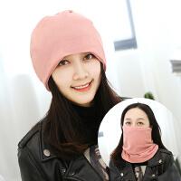 围脖女冬季保暖围巾帽子两用护颈学生套头脖套