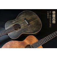 擦色单板吉他41寸复古民谣吉它圆角专业级演奏男女指弹吉他