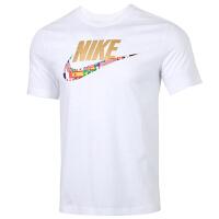 NIKE耐克上衣男装运动服休闲透气圆领短袖T恤CT6551-100