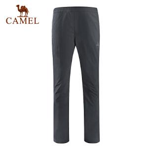 camel骆驼户外速干裤 男款透气快干直筒徒步长裤春夏