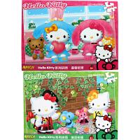 HelloKitty凯蒂猫 拼图玩具 凯啼猫200片盒装儿童拼图二合一