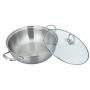 不锈钢汤锅304复底家用火锅双耳燃气电磁炉通用煮锅