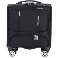 18寸迷你小行李箱女韩版牛津布拉杆箱男商务登机箱横款旅行皮箱子 18寸