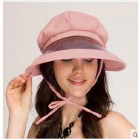 夏天遮阳帽子休闲凉帽 电动车骑车帽大沿防紫外线太阳帽女士